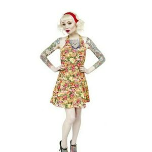 Hawaiian Halter Sun Dress by Sourpuss - Sz S